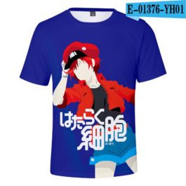 2019 latest Cells at Work 3D T-Shirt Women/Men Japanese Manga Style Summer Young Kawaii Girl Cells at Work Sweatshirt 3D T Shirt v5