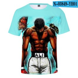 Classic Popular 3D Print Boxer Muhammad Ali t shirt Men/Women Summer boys/girls Short Sleeves 3D Tees Cool Muhammad Ali T-shirt v5