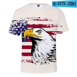 2019 New Independence Day 3D T shirts Men/women Summer Boys/girls Trendy Popular Cauual 3D Independence Day T-shirt Tees v5