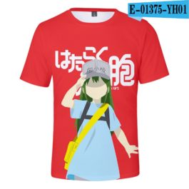 2019 latest Cells at Work 3D T-Shirt Women/Men Japanese Manga Style Summer Young Kawaii Girl Cells at Work Sweatshirt 3D T Shirt v6