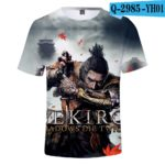 Hot Game 3D Troye Sekiro Shadow Die Twice T-shirts Men/Women 2019 Summer T-shirts men/women leisure Short Sleeves 3D T shirt v6