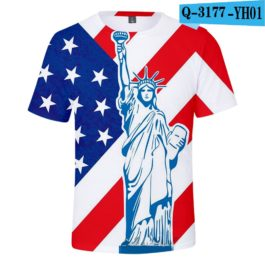 2019 New Independence Day 3D T shirts Men/women Summer Boys/girls Trendy Popular Cauual 3D Independence Day T-shirt Tees v7