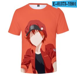 2019 latest Cells at Work 3D T-Shirt Women/Men Japanese Manga Style Summer Young Kawaii Girl Cells at Work Sweatshirt 3D T Shirt v8
