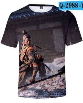 Hot Game 3D Troye Sekiro Shadow Die Twice T-shirts Men/Women 2019 Summer T-shirts men/women leisure Short Sleeves 3D T shirt v9