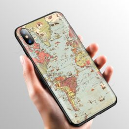Pink World Map Case for Apple iPhone 11 Pro XS Max XR X 8 7 6 6S Plus 5 5S SE v1