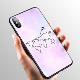 Pink World Map Case for Apple iPhone 11 Pro XS Max XR X 8 7 6 6S Plus 5 5S SE v10