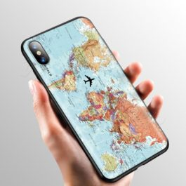 Pink World Map Case for Apple iPhone 11 Pro XS Max XR X 8 7 6 6S Plus 5 5S SE v5