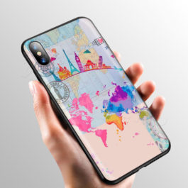 Pink World Map Case for Apple iPhone 11 Pro XS Max XR X 8 7 6 6S Plus 5 5S SE v8